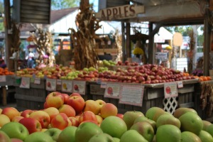 Apples in the market