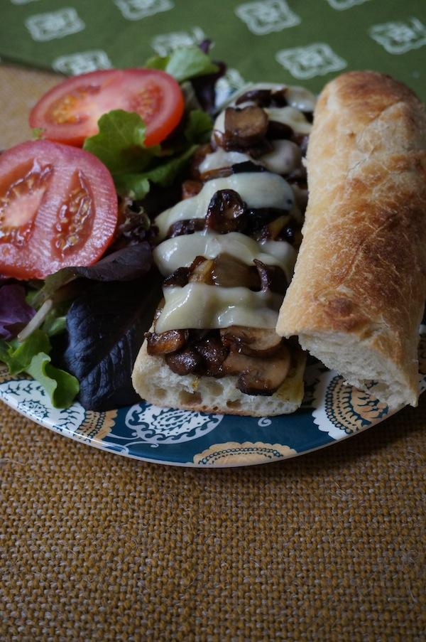 Mushroom-Swiss Sandwich