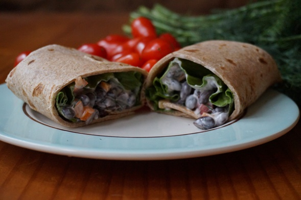 Bean Salad Wrap2-slice