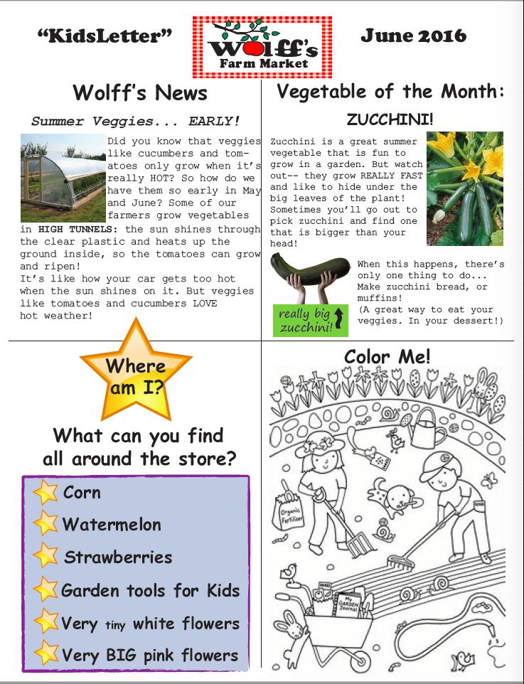 June Newsletter - Kids