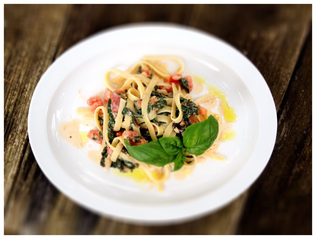 swiss chard and creamy pasta