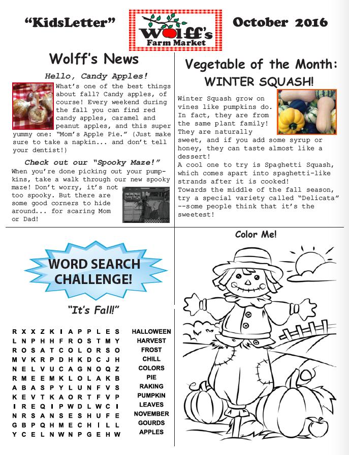 wolffs-kidsletter