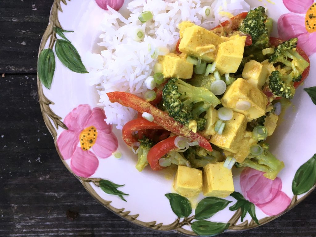 Veggies and Tofu in Coconut Curry - Wolff's Apple House