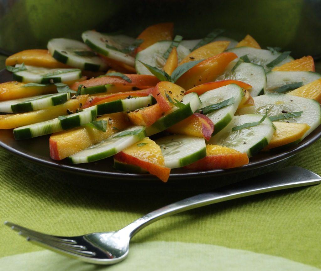 cucumber-peach-salad