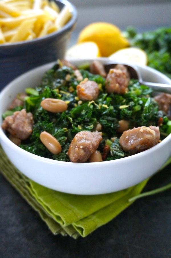 Sauteed-greens-white-beans