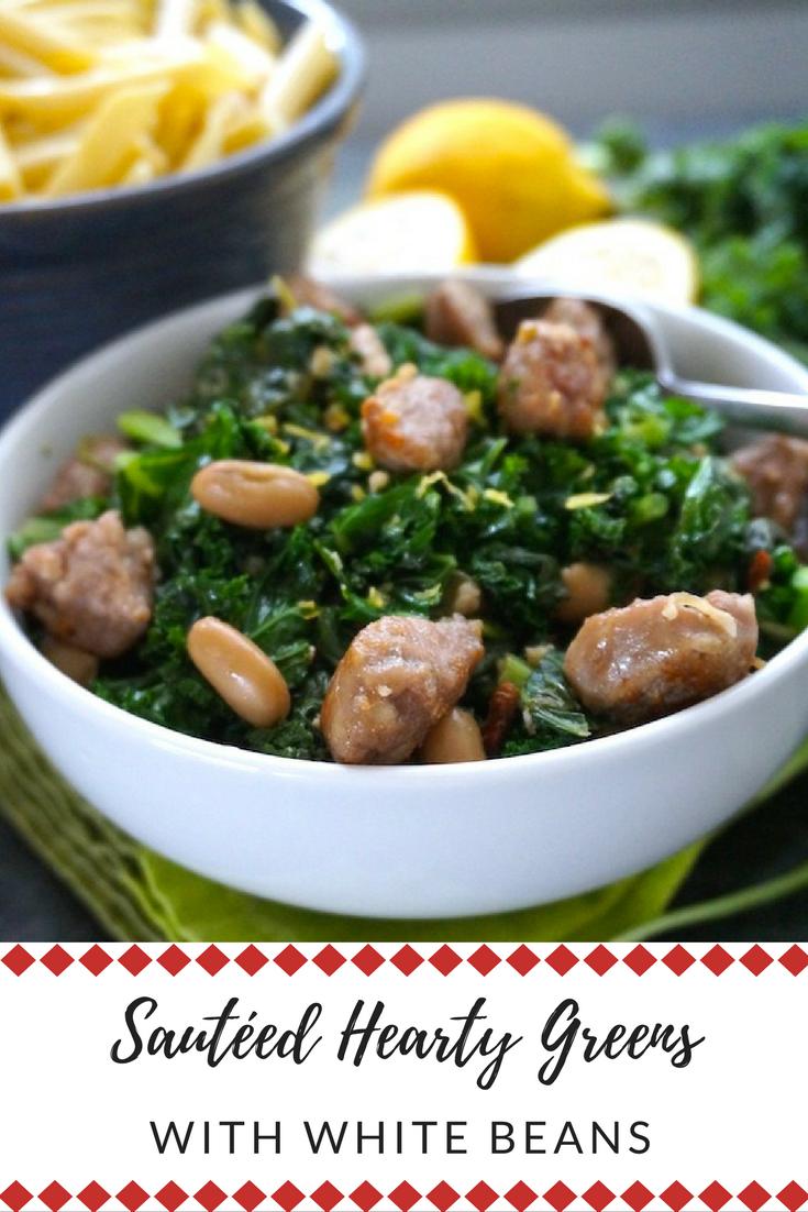 Make these clean and vegan or add sausage! #healthyrecipes #leafygreens