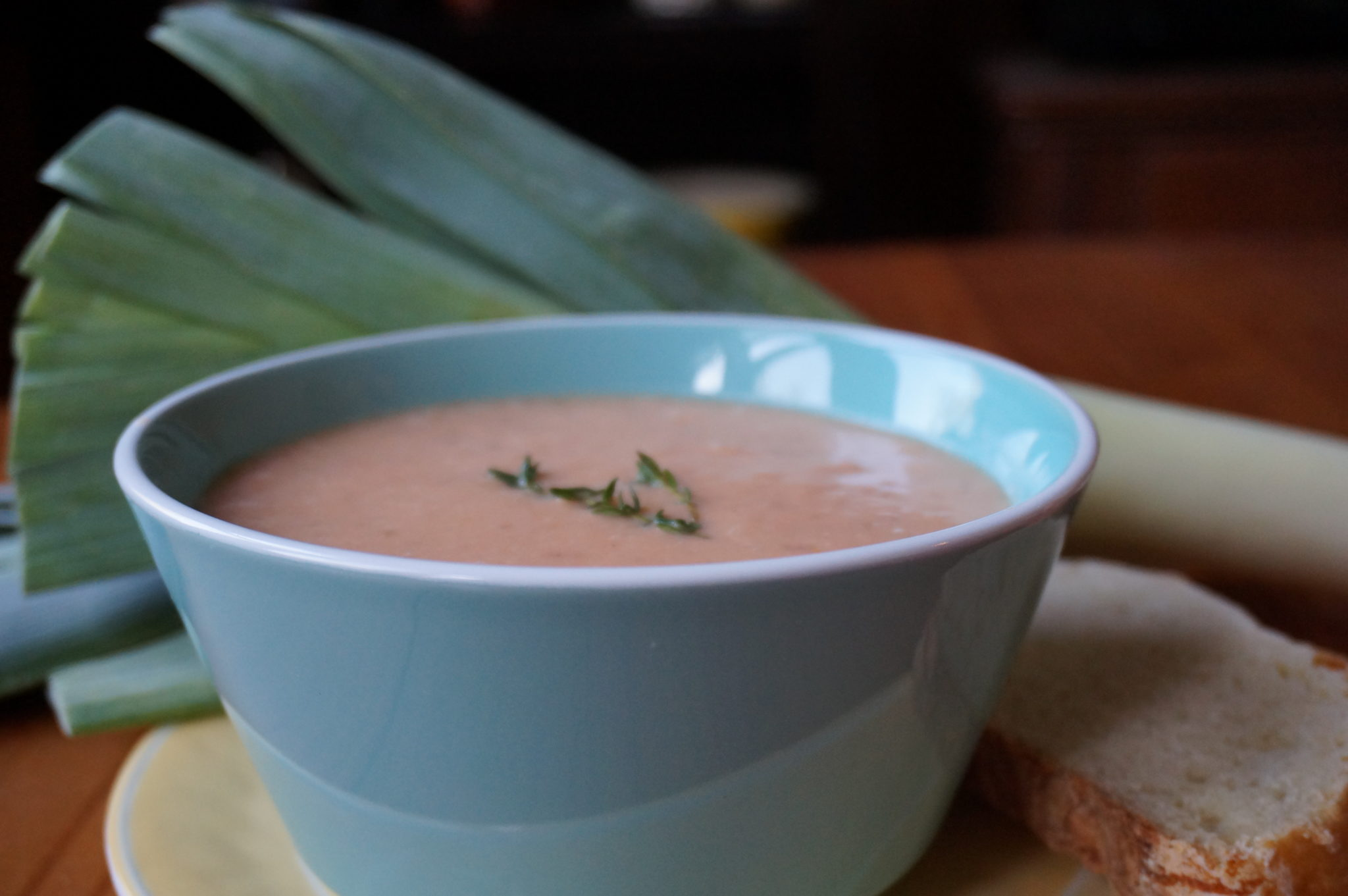 Leek Soup with Potato and Tomato