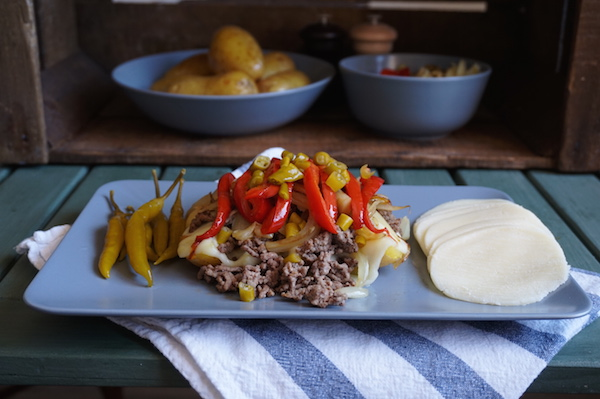 Philly Cheesesteak Baked Potatoes