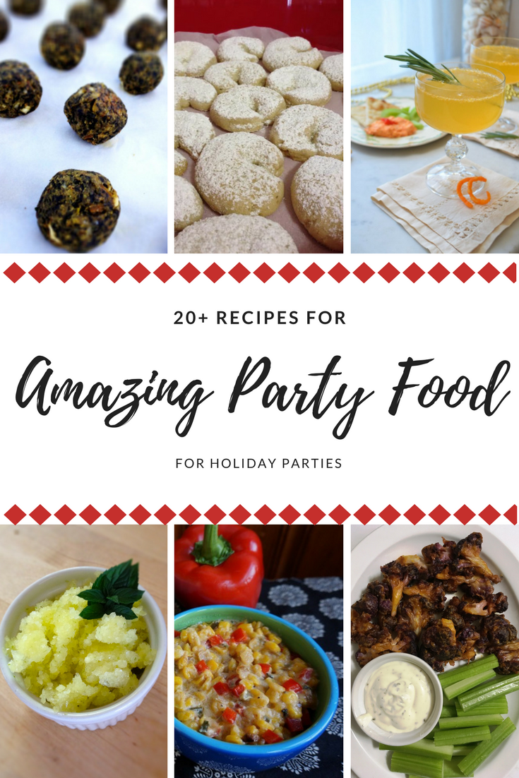 Throw a holiday party with these 20+ recipes for #appetizers #bread #beverages #desserts