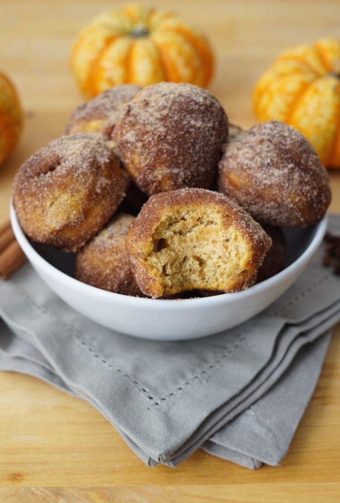 Refined-sugar free pumpkin donut holes