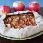 Cheesy galette with apples and cinnamon